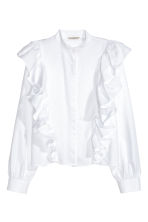 Frilled blouse - White - Ladies | H&M CN 2