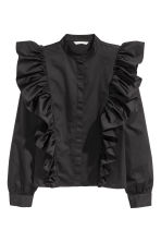 Frilled blouse - Black - Ladies | H&M CN 2