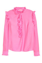 Frilled blouse - Pink - Ladies | H&M CN 2