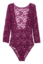 Lace body - Dark purple - Ladies | H&M CN 2