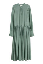 Crêpe dress - Green - Ladies | H&M CN 2