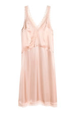 Satin dress with lace - Powder pink - Ladies | H&M CN 2
