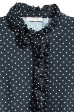 Frilled dress - Dark blue/Spotted - Ladies | H&M CN 4