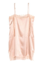 Satin strappy top with lace - Powder pink - Ladies | H&M CN 2