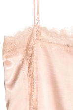 Satin strappy top with lace - Powder pink - Ladies | H&M CN 3
