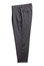 Wool suit trousers Relaxed fit - Dark grey marl - Men | H&M CN 2