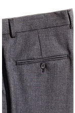 Wool suit trousers Relaxed fit - Dark grey marl - Men | H&M CN 4