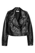 Coated biker jacket - Black -  | H&M CN 2