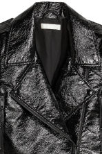 Coated biker jacket - Black -  | H&M GB 3