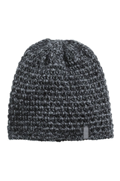 Wool ski hat - Dark grey marl - Ladies | H&M CN 1