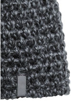 Wool ski hat - Dark grey marl - Ladies | H&M CN 2