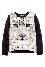Printed sweatshirt - Black/WWF - Kids | H&M CN 2