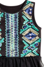Sequined dress - Black/Turquoise - Kids | H&M CN 3