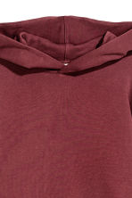 Oversized hooded top - Burgundy - Ladies | H&M GB 3