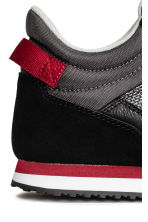 Trainers with suede details - Black/Dark grey - Kids | H&M CN 4