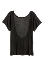 Top con scollatura dietro - Nero - DONNA | H&M IT 4