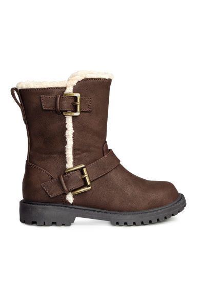 Pile-lined boots - Dark brown - Kids | H&M CN 1