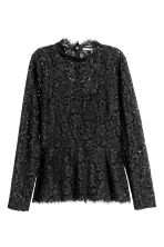 Lace peplum top - Black - Ladies | H&M CN 2