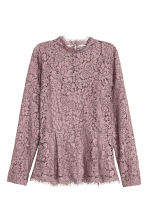 Lace peplum top - Heather purple - Ladies | H&M CN 2