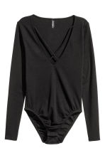 V-neck body - Black - Ladies | H&M CN 2