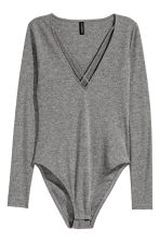V-neck body - Grey - Ladies | H&M CN 2