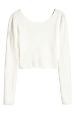 Short wrapover top - White -  | H&M CN 2