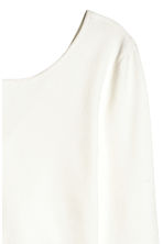 Short wrapover top - White -  | H&M CN 4