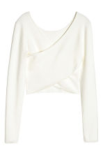 Short wrapover top - White -  | H&M CN 3