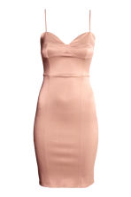 Sleeveless dress - Powder pink - Ladies | H&M CN 1