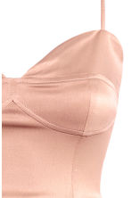 Sleeveless dress - Powder pink - Ladies | H&M CN 2