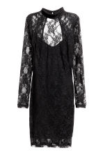 Long-sleeved lace dress - Black - Ladies | H&M CN 2