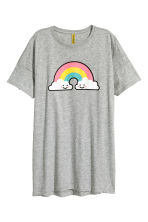 Oversized T-shirt - Light grey - Ladies | H&M CN 1