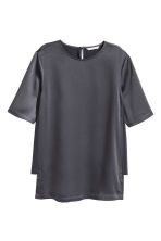 Satin top - Dark grey -  | H&M CN 2