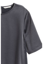 Satin top - Dark grey -  | H&M CN 3
