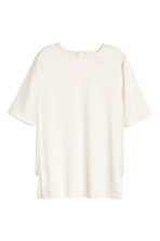 Satin top - Natural white -  | H&M CN 1