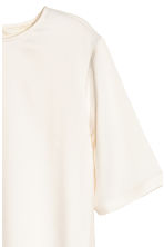 Satin top - Natural white -  | H&M CN 2
