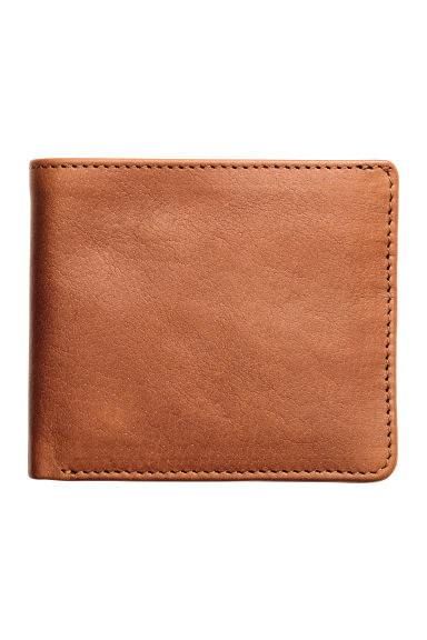 Leather wallet - Cognac brown - Men | H&M GB