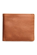 Leather wallet - Cognac brown - Men | H&M 1