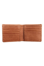 Leather wallet - Cognac brown - Men | H&M 2
