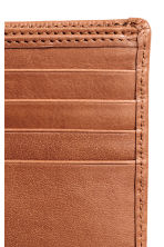 Leather wallet - Cognac brown - Men | H&M 3