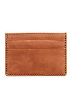 Leather card holder - Cognac brown -  | H&M CA 1