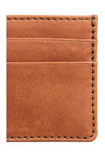Leather card holder - Cognac brown -  | H&M CA 3
