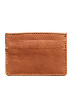 Leather card holder - Cognac brown -  | H&M CA 2