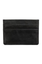Leather card holder - Black - Men | H&M CN 1