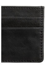 Leather card holder - Black - Men | H&M CN 3