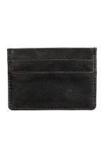 Leather card holder - Black - Men | H&M CN 2
