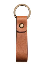 Leather keyring - Cognac brown - Men | H&M IE 1
