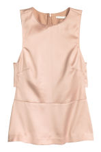 Sleeveless satin blouse - Powder - Ladies | H&M CN 2