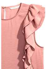 Frilled top - Light pink - Ladies | H&M CN 3