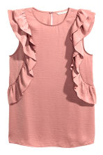 Frilled top - Light pink - Ladies | H&M CN 2